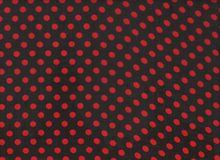 Polka Dot Poly Chiffon Red