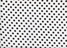 Polka Dot Poly Chiffon White