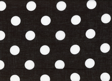 Polka Dot Voile Black