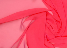 Poly Chiffon Fabric Hot Pink