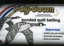 "Poly-down Bonded Quilt Batting Crib Size 45"" x 60"""