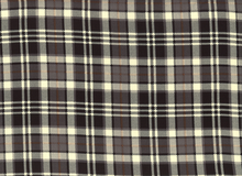 Portland Plaid Challis Black
