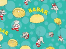 Babar Skydiving Cotton Turquoise