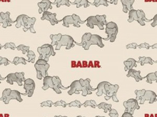 Babar Traveling Elephants Cotton Cream