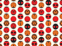 Birch Charley Harper Ladybugs Organic Cotton