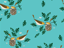 Charley Harper Red Eye Vireo Bird Organic Cotton