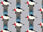 Birch Charley Harper Upside Downside Bird Organic Cotton