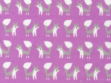 Cloud 9 Fanfare Foxes Organic Flannel Orchid