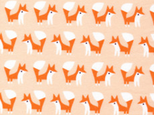 Cloud 9 Fanfare Foxes Organic Flannel Pink