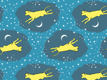 "Cloud 9 Goodnight Moon Over Moon Organic Cotton Blue <br><FONT COLOR=""fc7db0"">Employee Favorite!</FONT>"