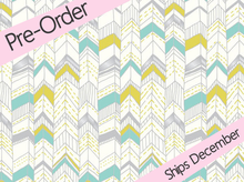 Cloud 9 Revelry Bandeau Chevron Voile Cream & Teal