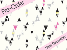 Cloud 9 Revelry Snap Triangles Voile Cream