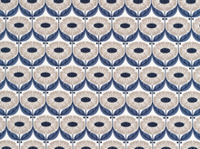 Cloud 9 Wildwood Deco Floral Cotton Indigo