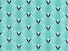 Cloud 9 Wildwood Deco Petal Cotton Turquoise