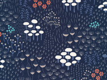 Pre-Order Cloud 9 Wildwood Midnight Flora Cotton Navy  (Ships October)