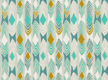 Cotton & Steel August Sarah Watts Diamond Back Cotton Aqua