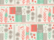 Cotton & Steel August Sarah Watts Mezzanine Cotton Coral