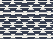Art Gallery Arizona Tomahawk Stripe Cotton Navy