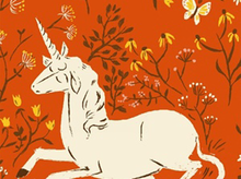 Pre-Order Unicorns Cotton Orange (Ships August)