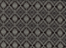 Printed Lace Tiles Ponte Black