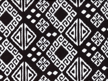 Printed Ponte Aztec Squares Black and White