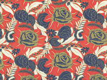 Puttin' on the Ritz Roses Cotton Coral