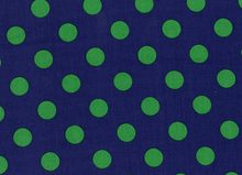 Quarter Dot Grass Green on Navy