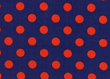 Quarter Dot Twilight Red on Navy