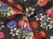 Quilt Illusions Floral Double Knit Multi and Black