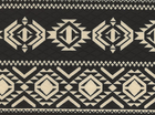 Quilted Santa Fe Double Knit Black and Tan