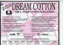"Quilter's Dream Cotton 91"" Batting"