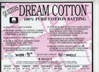 "Quilters Dream Cotton 91"" Batting"