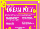 "Quilters Dream Poly Batting 61"" Midnight Black"