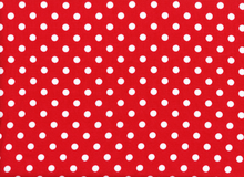 Rayon Challis Dot Red