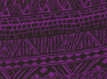 Rayon Challis Tribal Purple and Black
