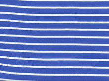 Rayon Knit Stripe Blue and White