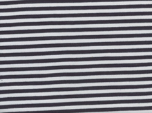 Rayon Knit Stripe Navy and White