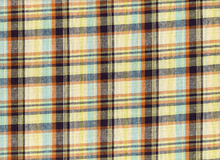 Rayon Linen Plaid Blue