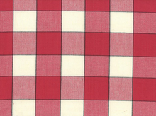 Buffalo Check Toweling Fabric Red