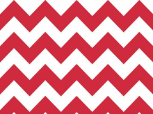 Red Chevron Stripe Cotton Fabric