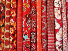 Red Quilting Fabric