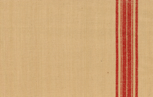 Red Stripes on Natural Moda Toweling Fabric