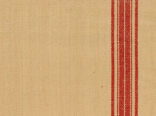 Maison Stripes Toweling Fabric Red and Natural