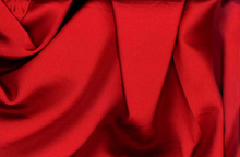 Red Tahari Satin Fabric