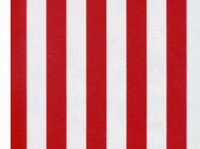 Red & White Stripe Oilcloth Fabric White