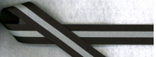 Reflective Strip Grosgrain Ribbon Black 7/8""