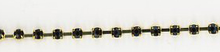 Rhinestone Trim Gold
