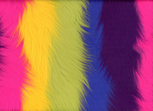 Ribbon of Rainbow Shag Faux Fur