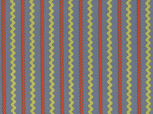 Ric Rac Stripes Cotton Fabric Grey