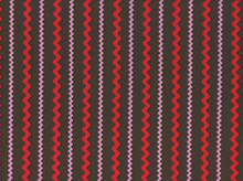 Ric Rac Stripe Cotton Red